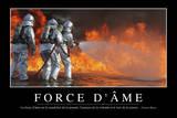 Force D'Âme: Citation Et Affiche D'Inspiration Et Motivation Fotografie-Druck