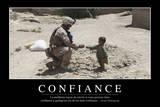Confiance: Citation Et Affiche D'Inspiration Et Motivation Fotografie-Druck