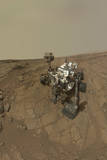 Self-Portrait of Curiosity Rover on the Surface of Mars Fotografie-Druck