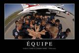 Équipe: Citation Et Affiche D'Inspiration Et Motivation Fotografie-Druck