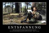 Entspannung: Motivationsposter Mit Inspirierendem Zitat Fotografie-Druck