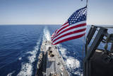 The National Ensign Flies from the Mast Aboard USS Stockdale Photographic Print