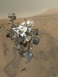 Self-Portrait of Curiosity Rover in Gale Crater on the Surface of Mars Fotografie-Druck