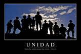 Unidad. Cita Inspiradora Y Póster Motivacional Fotografie-Druck