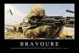 Bravoure: Citation Et Affiche D'Inspiration Et Motivation Fotografie-Druck