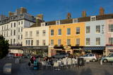 Outdoor Cafe and Typical Terrace in Centre of Margate, Kent, England, United Kingdom, Europe Reproduction photographique par Charles Bowman