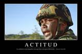 Actitud. Cita Inspiradora Y Póster Motivacional Fotografie-Druck