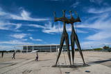 Dois Candangos (The Warriors), Monument of Builders of Brasilia, Brazil, South America Photographic Print by Michael Runkel