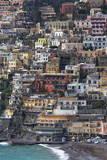 The Colourful Town of Positano Perched Impressão fotográfica por Martin Child
