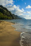 Kee Beach on the Napali Coast, Kauai, Hawaii, United States of America, Pacific プレミアム写真プリント : マイケル・ランケル