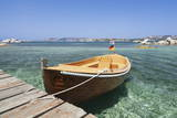 Boat at a Jetty, Palau, Sardinia, Italy, Mediterranean, Europe Photographic Print by Markus Lange