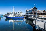 Fishing Boat Harbour of Fremantle, Western Australia, Australia, Pacific Stampa fotografica di Michael Runkel
