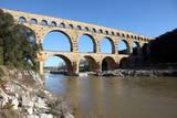 Roman Aqueduct of Pont Du Gard Photographic Print by David Lomax
