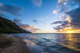 Sunset on the Napali Coast, Kauai, Hawaii,United States of America, Pacific Fotografisk trykk av Michael Runkel
