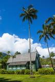 Wai'Oli Hui'Ia Church in Hanalai on the Island of Kauai, Hawaii, United States of America, Pacific Fotografisk trykk av Michael Runkel