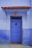 Traditional Bluehouse, Chefchaouen (Chefchaouene), Morocco, North Africa, Africa Photographic Print by Simon Montgomery