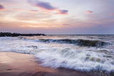 Waves Crashing on Negombo Beach at Sunset, West Coast of Sri Lanka, Asia Photographic Print by Matthew Williams-Ellis