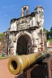 Cannon at Porta De Santiago Stampa fotografica di Nico Tondini