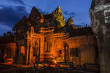 Banteay Samre Temple at Night Photographic Print by Michael Nolan