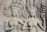 Bas-Relief Frieze at Angkor Wat Photographic Print by Michael Nolan