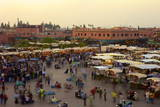 Marrakesh at Dusk, Djemaa El-Fna, Marrakech, Morocco, North Africa, Africa Photographic Print by Simon Montgomery