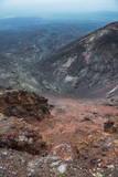 View over the Lava Sand Field of the Tolbachik Volcano, Kamchatka, Russia, Eurasia Fotografisk trykk av Michael Runkel