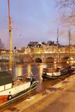 Ships on River Seine and Pont Neuf Bridge, Paris, Ile De France, France, Europe Photographic Print by Markus Lange
