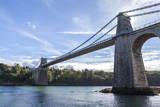 Menai Bridge Spanning the Menai Strait, Anglesey, Wales, United Kingdom, Europe Photographic Print by Charlie Harding