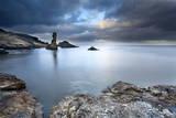 Rock and Spindle on the Fife Coast Near St. Andrews, Fife, Scotland, United Kingdom, Europe Fotografisk trykk av Mark Sunderland