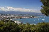 View over Town and Bay from Phare D'Antibes Photographic Print by Stuart Black