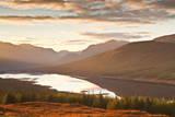 The Setting Sun over Loch Loyne in the Scottish Highlands, Scotland, United Kingdom, Europe Photographic Print by Julian Elliott