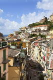 Rooftops Above Via Colombo in Riomaggiore Photographic Print by Mark Sunderland