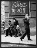 Homem em rua de Nápoles Poster