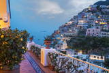 Positano, Amalfi Peninsula, UNESCO World Heritage Site, Campania, Italy, Mediterranean, Europe Impressão em tela esticada por Angelo Cavalli