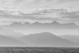 The Coastline of Kaikoura in Black and White, South Island, New Zealand, Pacific Photographic Print by Michael Nolan