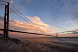 The Humber Bridge at Dusk, East Riding of Yorkshire, Yorkshire, England, United Kingdom, Europe Photographic Print by Mark Sunderland