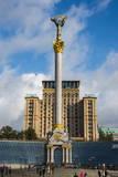 Independence Monument on the Maidan Nezalezhnosti in the Center of Kiev (Kyiv), Ukraine, Europe Photographic Print by Michael Runkel