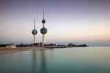 Kuwait Towers at Dawn, Kuwait City, Kuwait, Middle East Fotoprint av Jane Sweeney