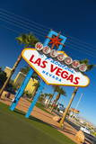 Welcome to Fabulous Las Vegas Sign, Las Vegas, Nevada, United States of America, North America Fotografisk tryk af Alan Copson