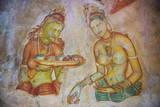 Apsara Frescoes Stretched Canvas Print by Matthew Williams-Ellis