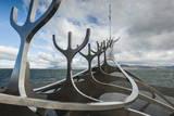 Solfar (Sun Voyager) Sculpture by Jon Gunnar Arnason in Reykjavik, Iceland, Polar Regions Photographic Print by Michael Snell