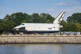 Buran Space Shuttle Test Vehicle in the Gorky Park on the Moscow River, Moscow, Russia, Europe Fotografisk trykk av Michael Runkel