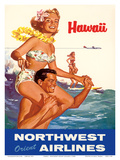 Hawaii - Northwest Orient Airlines Posters