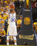 2014 NBA Playoffs Game 6: May 1, Los Angeles Clippers vs Golden State Warriors - Stephen Curry Photographie par Rocky Widner