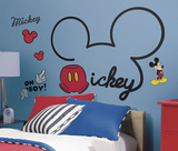 Mickey & Friends - All About Mickey Peel and Stick Giant Wall Decals Vinilo decorativo