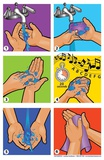 Wash Your Hands Graphics Poster Plakat