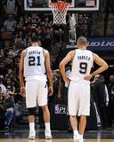 2014 NBA Playoffs Game 2: Apr 23, Dallas Mavericks vs San Antonio Spurs - Tim Duncan, Tony Parker Foto af D. Clarke Evans