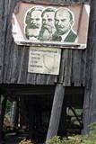 Poster with the Portraits of Karl Marx, Freidrich Engels and Lenin Fotografie-Druck von Sergei Chirikov