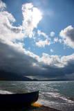 A Boat Near the Ohrid Lake, Near Pogradec Fotografie-Druck von Armando Babani