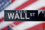 A View of a Wall Street Sign Near the New York Stock Exchange in New York, New York, USA Photographic Print by Justin Lane